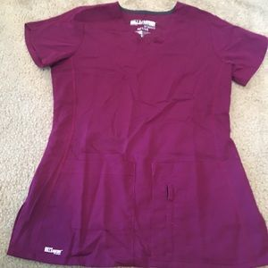 Grey's Anatomy by Barco Maroon Active Scrub Top XS